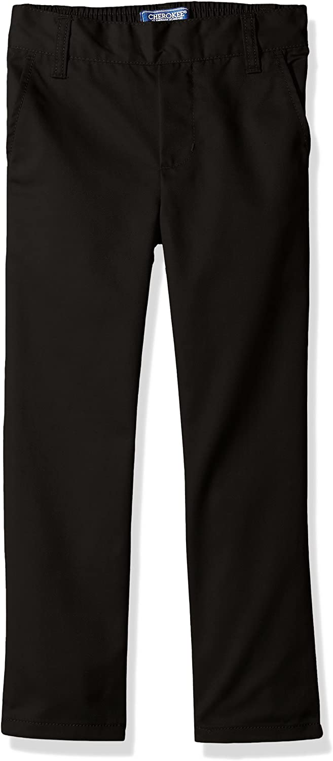 CHEROKEE Boys Uniform Relaxed Fit Twill Pull on Pant School Uniform Pants