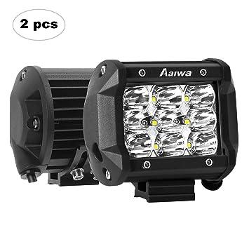 AAIWA Focos de Coche, LED Luz de Trabajo Bar Focos Led para 2 Piezas 9 LED ...