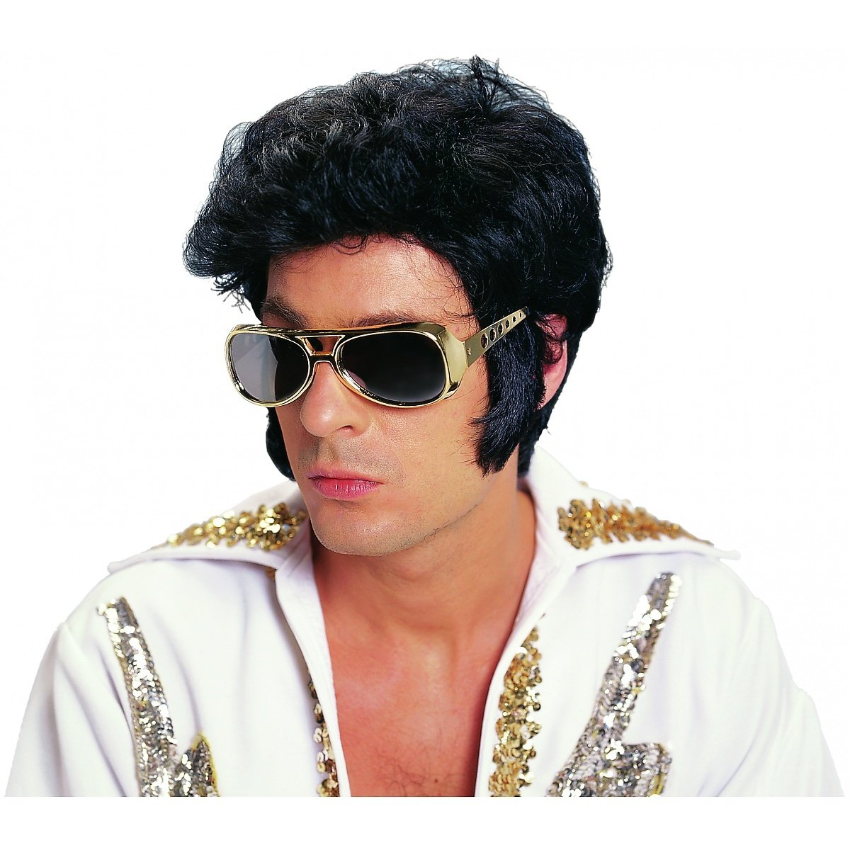 Rock N' Roll Deluxe Black Wig Costume Accessory