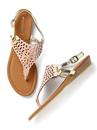 56d7d5092f6f DressBerry Women Dusty Pink   Muted Gold-Toned Cut-Out Flats (EURO39 ...