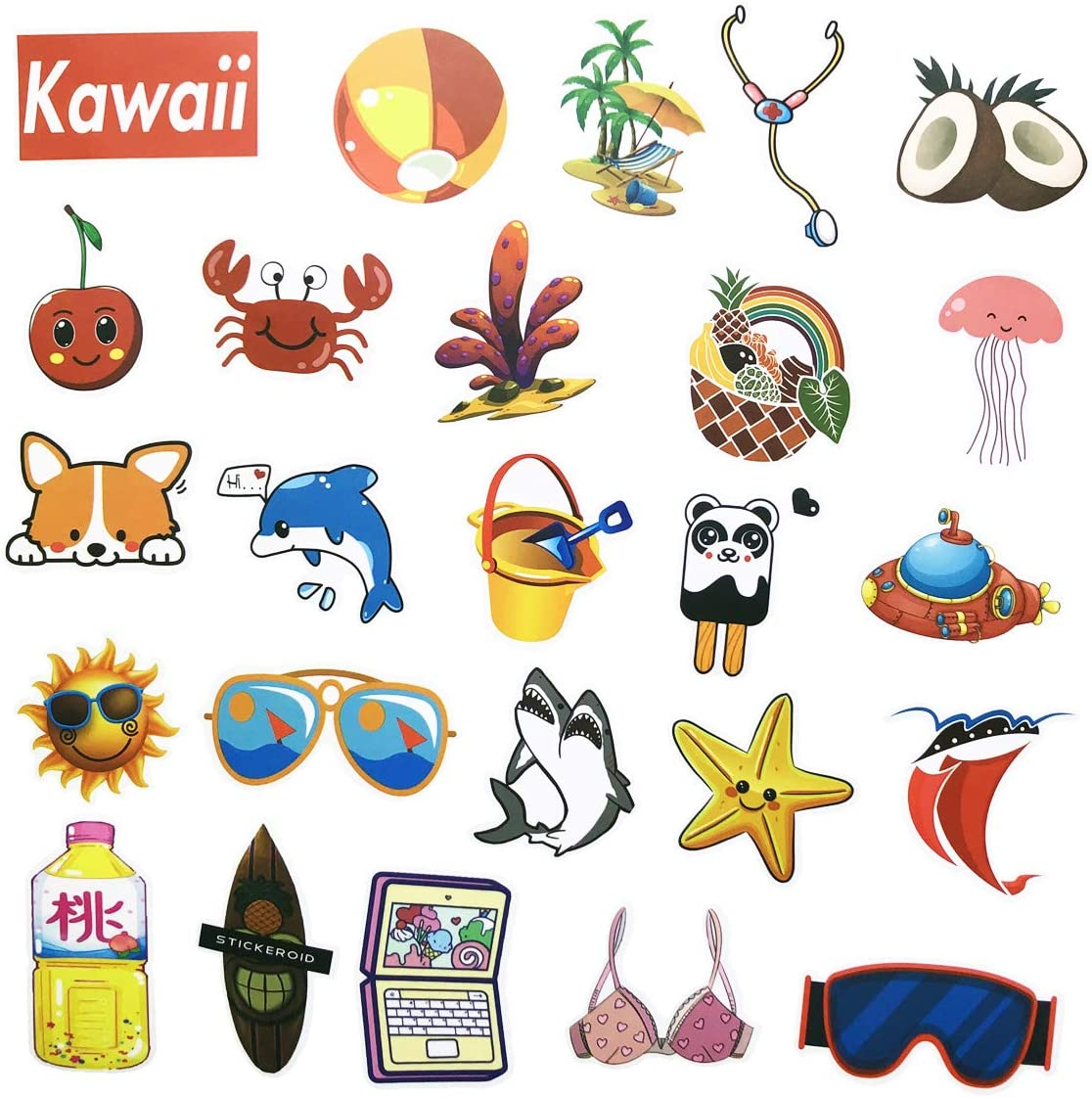 COOLCOOLDE Go Fishing Stickers Many Kinds of Fly Fish Stickers 60Pcs Variety Vinyl Car Sticker Water Bottle Skateboard Motorcycle Phone Bicycle Luggage Guitar Bike Sticker Decal go Fishing