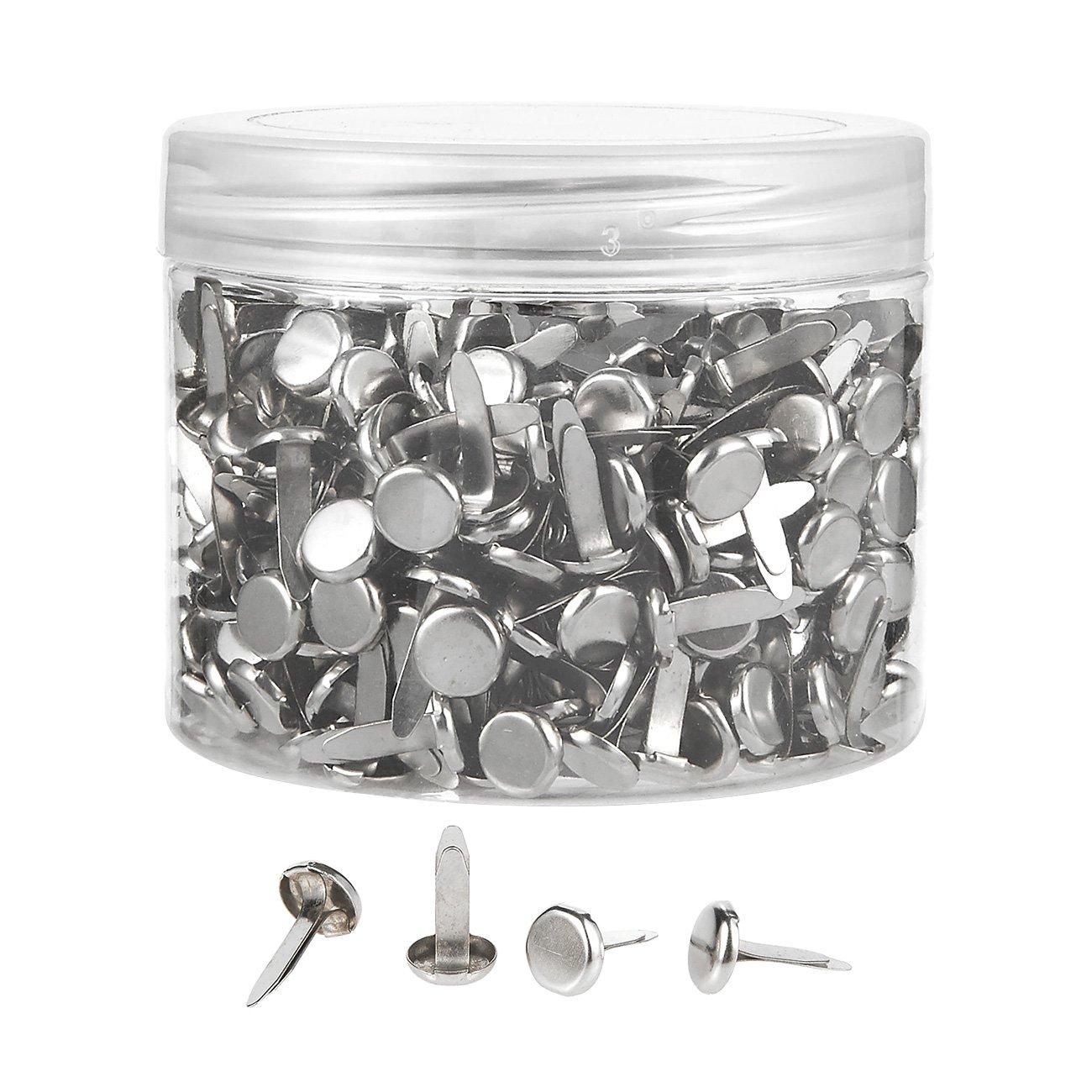 500 Pieces Mini Brads - Scrapbooking Brads - Paper Fasteners - Iron Brad Fasteners, Silver Color