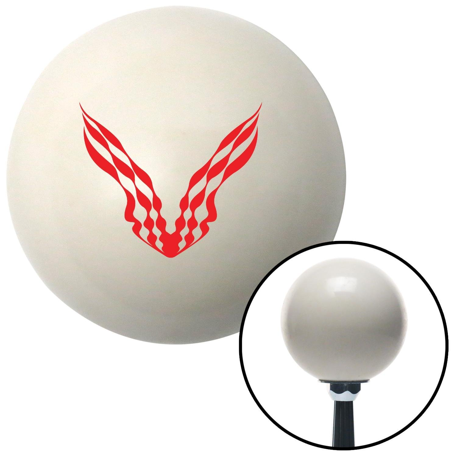 Red Checkered Racing Wings American Shifter 30089 Ivory Shift Knob with 16mm x 1.5 Insert