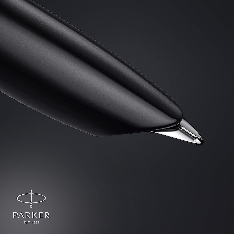 cuerpo negro con adorno cromado Parker/51 pluma estilogr/áfica estuche de regalo plum/ín fino con cartucho de tinta negra
