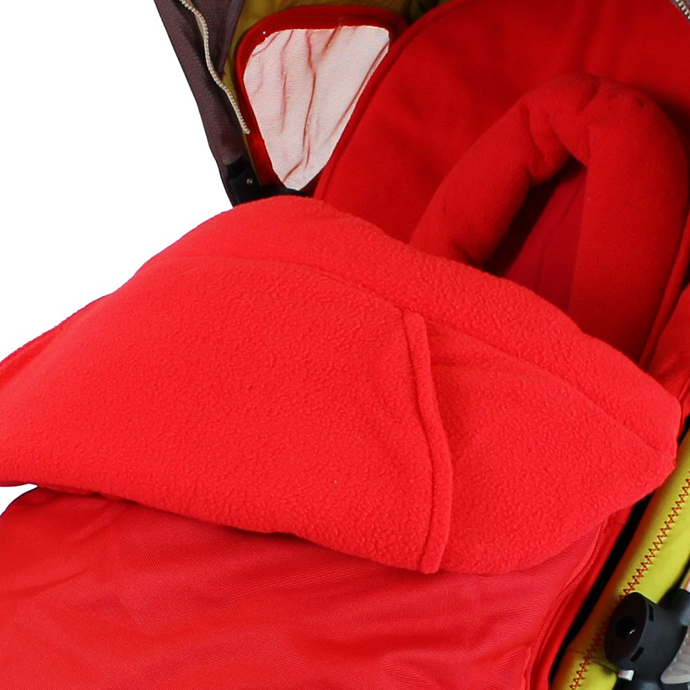 Baby Travel Foot Muff and Head Hugger Universal Fit (Red) BT300