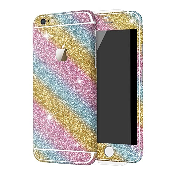 low priced a1f43 60079 DStores for iPhone 5/5S/SE Sticker, Bling Sticker Case for Apple iPhone  5/5S/SE Full Body Decal Skin Bling Glitter Sticker Phone Cover - Colorful