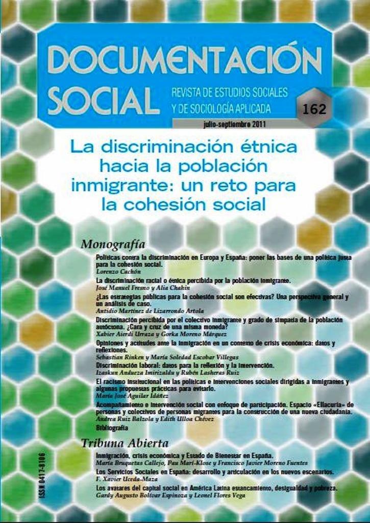 La discriminación étnica hacia la población inmigrante: un reto para la cohesión social Documentación Social: Amazon.es: Laparra Navarro, Miguel, Martínez de Lizarrondo, Antidio: Libros