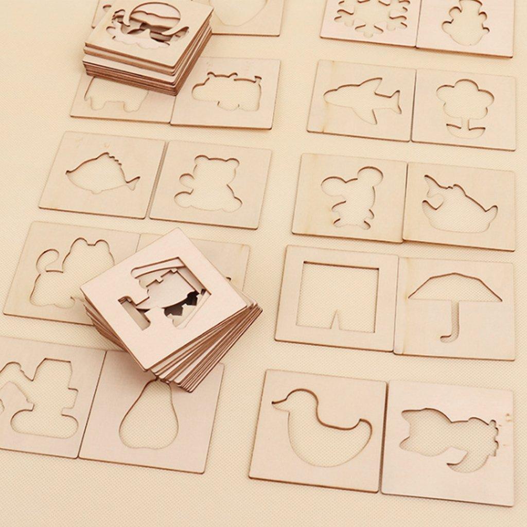 Kalttoy Juego de Juguetes de Madera para Pintar y Aprender a Dibujar, Plantilla de Animales creativos: Amazon.es: Productos para mascotas