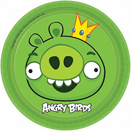 Angry Birds dessert plates King Pig 7 inch round package of 8 paper  sc 1 st  Amazon.com & Amazon.com: Angry Birds dessert plates King Pig 7 inch round ...