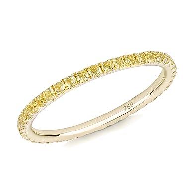 f78fb4d1fd4d verifine 18 K amarillo oro amarillo zafiro Skinny Full Eternity anillo   Amazon.es  Joyería