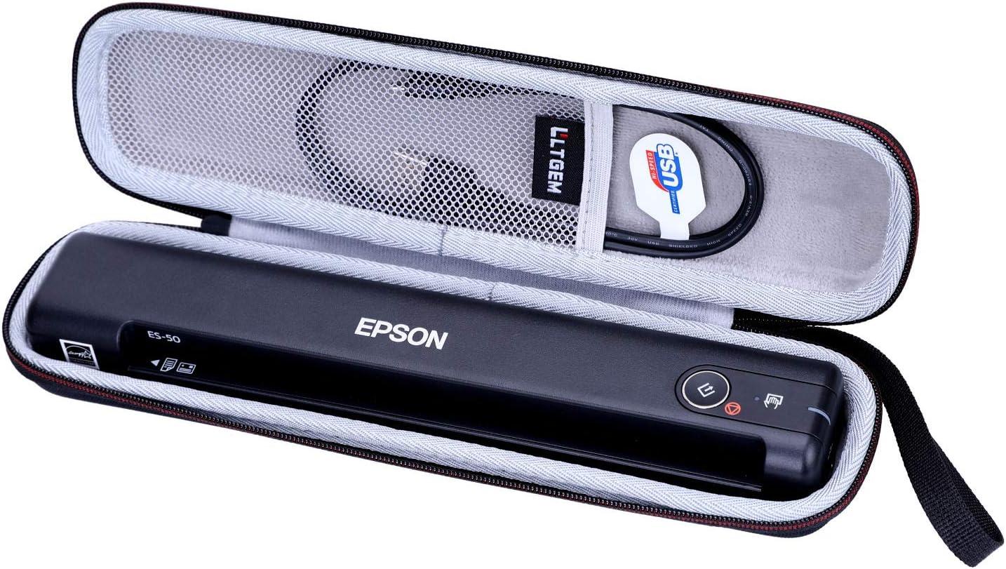 LTGEM Hard Case for Epson Workforce ES-50 / ES-55R / ES-60W / ES-65WR / DS-30 / DS-70 / DS-80W Portable Sheet-fed Document Scanner