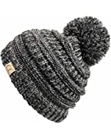 Funky Junque's CC Kids Baby Toddler Cable Knit Children's Pom Winter Hat Beanie
