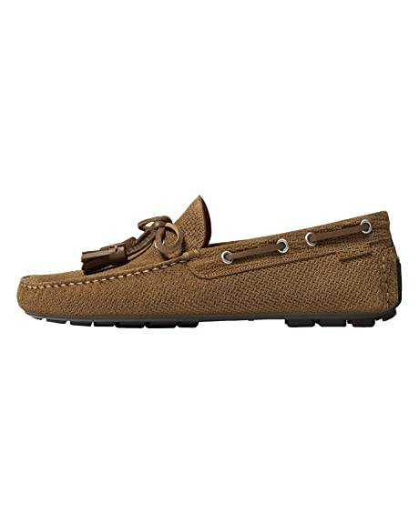 Massimo Dutti - Mocasines de Cuero para Hombre Marrón marrón, Color Marrón, Talla 40 EU: Amazon.es: Zapatos y complementos