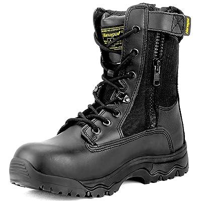 HANAGAL Men's Escalade Tactical Boots Black: Shoes