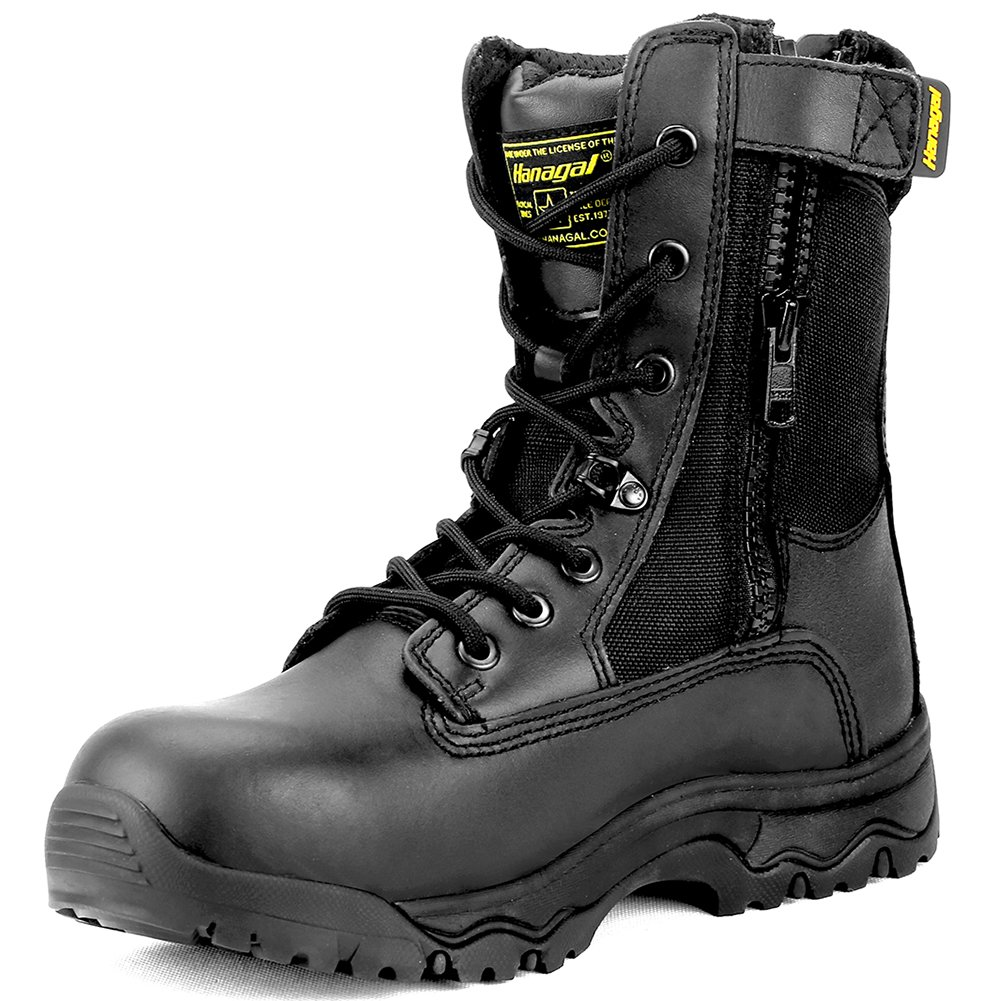 Hanagal Men's Escalade Tactical Boots,Black,9.5 D(M) US