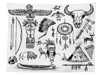 Amazon Vipsung Native American Decor Tablecloth Set Of Wild
