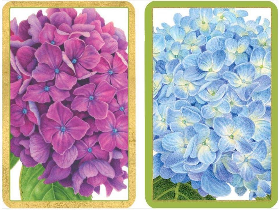 Caspari Hydrangea Garden Playing Cards, 2 Decks Included