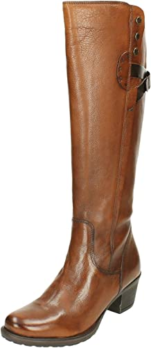 Melodrama Negociar Preservativo  Clarks Ladies Riding Style Boots Maymie Stellar - Cognac Leather - UK Size  5.5E - EU Size 39 - US Size 8W: Amazon.co.uk: Shoes & Bags