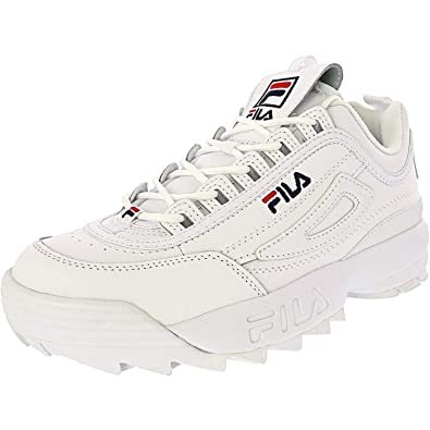 Fila Disruptor 2 Premium Shoes - wht/fnvy/fred - Mens - 10