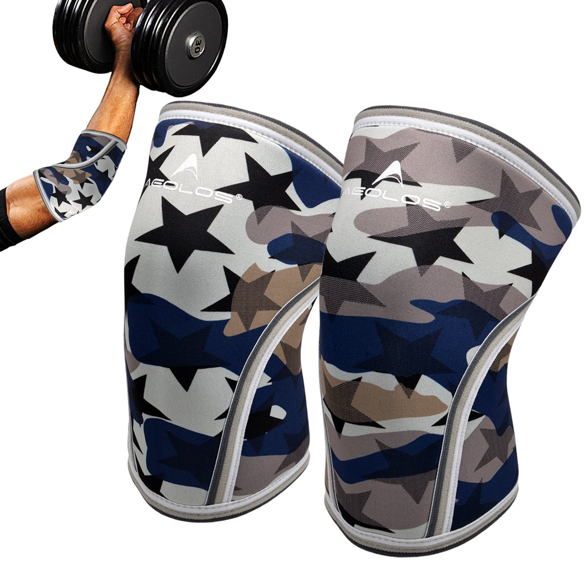 Elbow Sleeves(Pair),Perfect Support for Squat,Crossfit,Weightlifting,Powerlifting,Tennis, Golf & Basketball(X-Large)