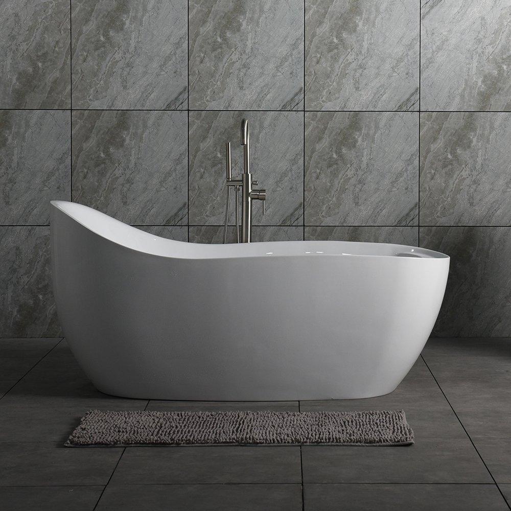WOODBRIDGE B-0033 Deluxe Air Bubble Free Standing Bathtub Tub ...