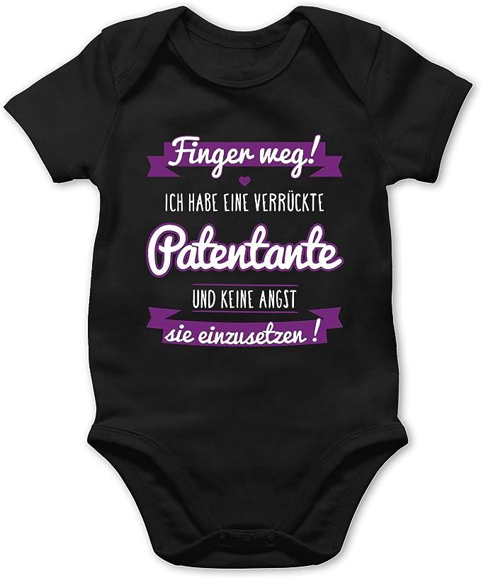 Ich habe eine verr/ückte Patentante lila Spr/üche Baby Shirtracer Baby L/ätzchen Baumwolle