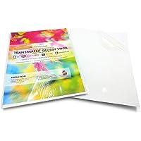 10 hojas de vinilo transparente, tamaño A4, brillantes, autoadhesivas, impermeables, vinilo transparente de calidad…