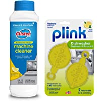 Glisten DM06N Magic Machine Cleaner & Disinfectant and Plink Dishwasher Freshener & Rinse Aid
