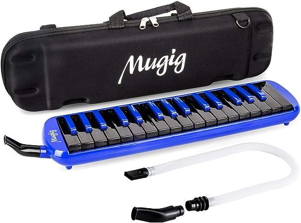 Mugig Melodica 32 llaves, C-key, Piano/Teclado inspirado, instrumento, portátil, Fosphor Bronze Reed, adecuado para la práctica, la enseñanza o el ...