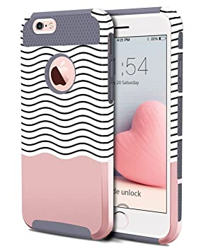 e36da06154d BENTOBEN iPhone 6 Plus Funda, Case iPhone 6S Plus, Protector Cáscara  Flexible 2 en