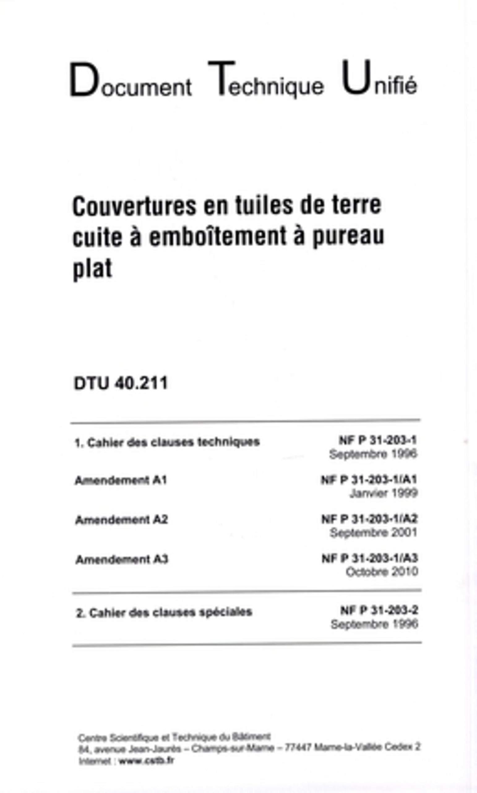 DTU 40.211 TÉLÉCHARGER