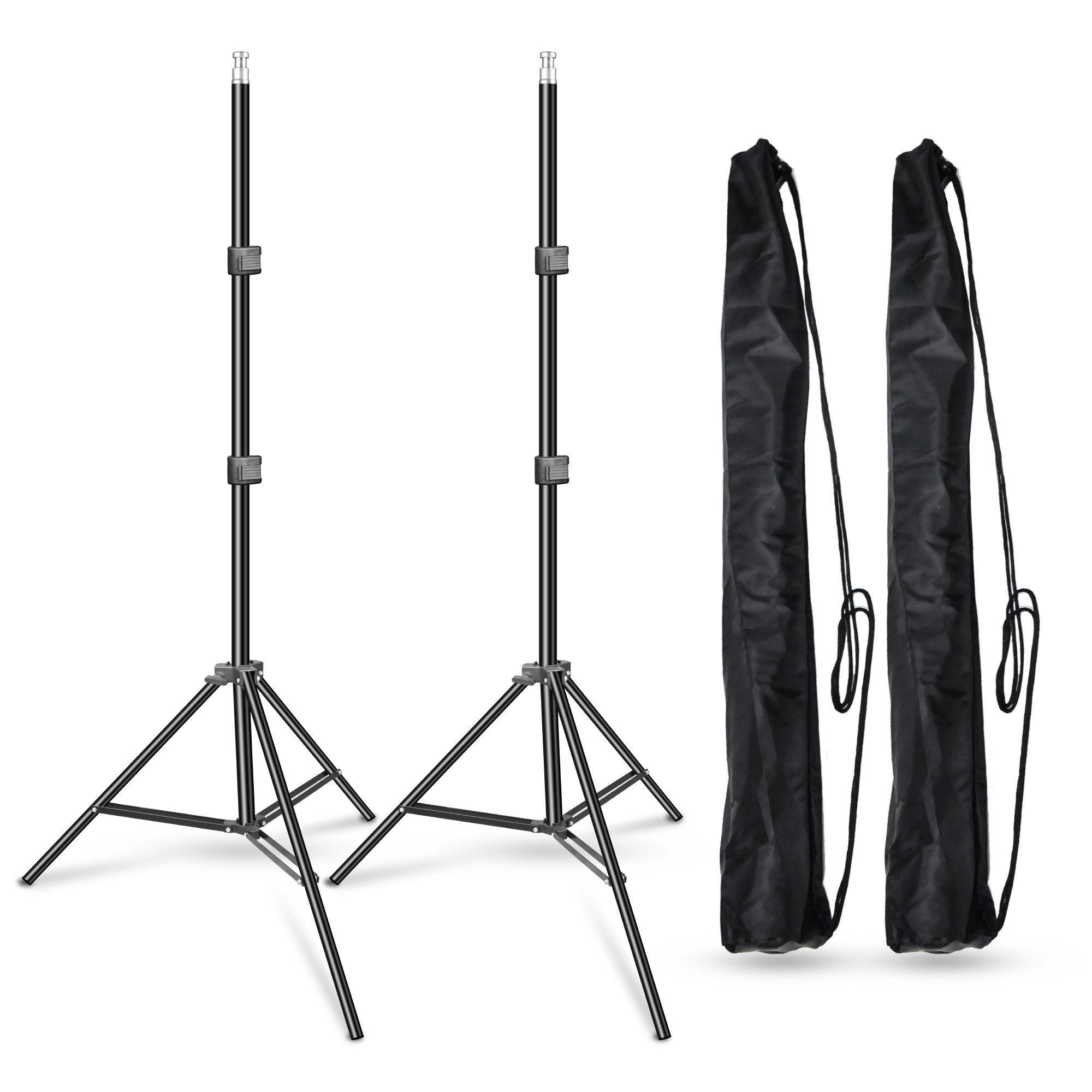 Emart 7ft Photography Light Stand with 5/8 inch Stud on Top, Only Used for Photo Video Studio Accessories - Umbrella, Softbox, Ring light, Reflector Stand (2 Pack)