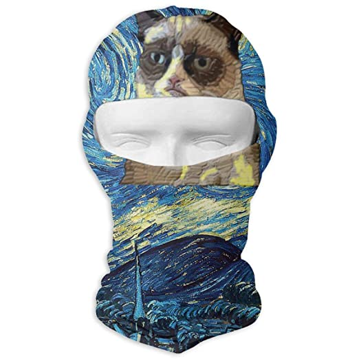 Grumpy Cat Starry Nigh Balaclava Full Face Mask Windproof Ski Mask  Motorcycle Cycling at Amazon Men s Clothing store  c07ab5f9a80b