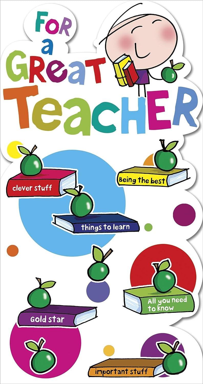 Carcasa tarjeta de agradecimiento para un profesor.