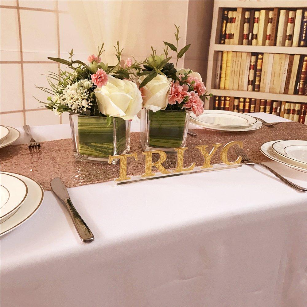 rose gold 30,5/x 182,9/cm Or rose de No/ël Paillette Sequin Tablerunner Table Qty: 1 Autre chiffon mariage chemin de table