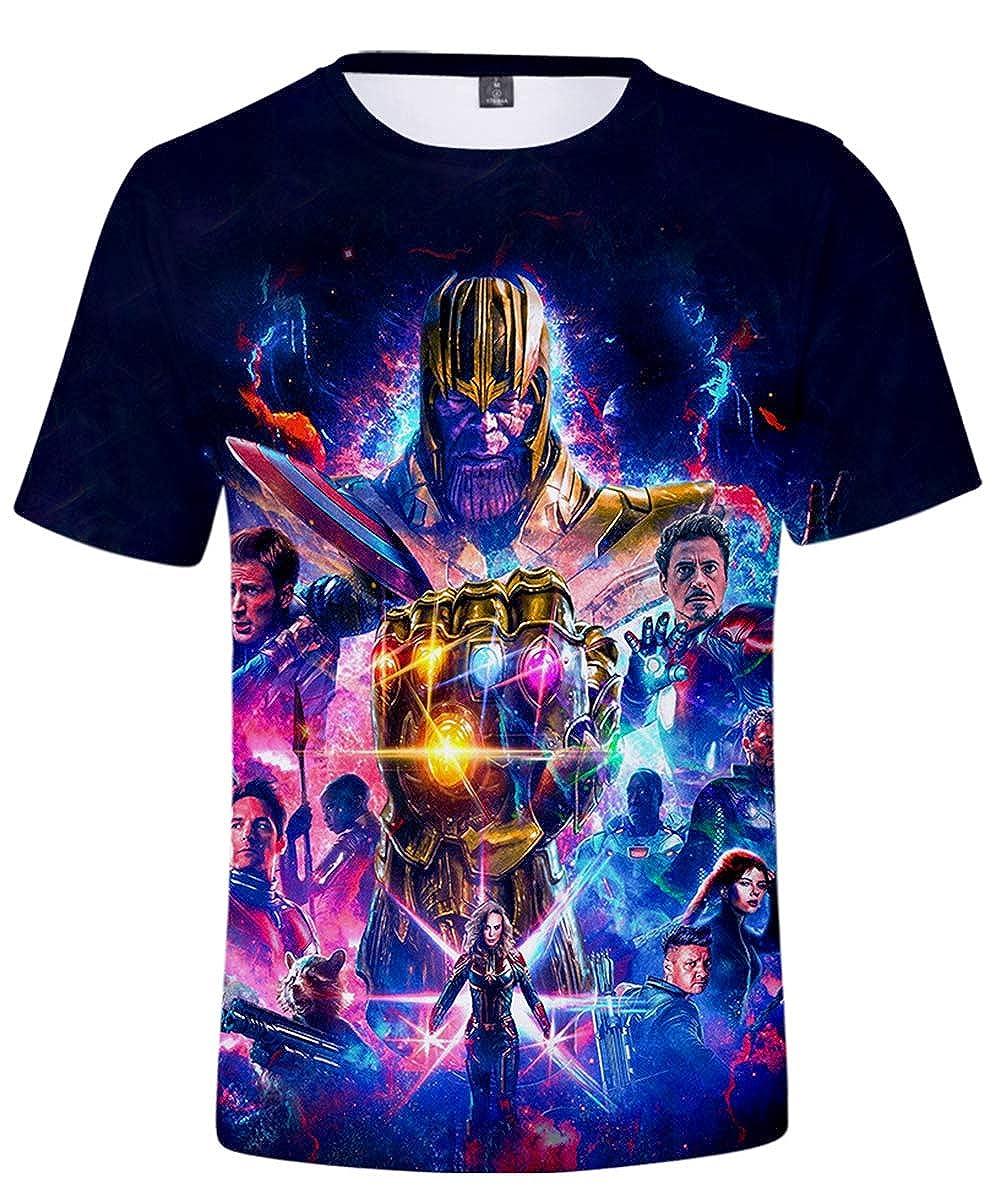 HUASON Bambini E Ragazzi T-Shirt Avengers Endgame Super Hero Quantum Realm Short Sleeve