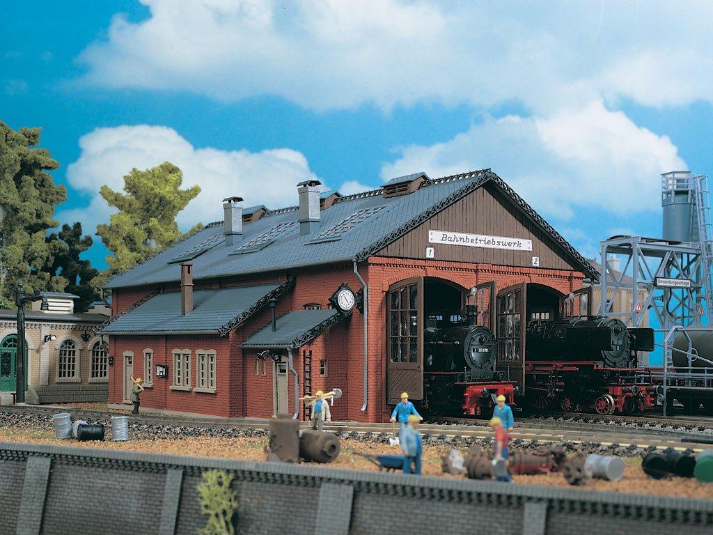 Vollmer 5753 H0 - Lokschuppen 2-ständig 310 x 210 x 138 Modelleisenbahn / Aufbauten Modelleisenbahn / Bahnsteige Hallen und Lokschuppen Modelleisenbahn / Sonstige bahntechnische Bauten