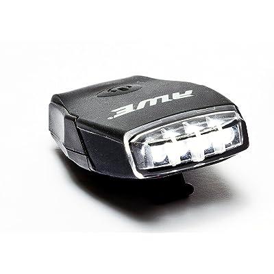 AWE® AWEMicro™ Vélo rechargeables Silicone USB 2.0 4 tête de LED lumière noir 30 Lumens