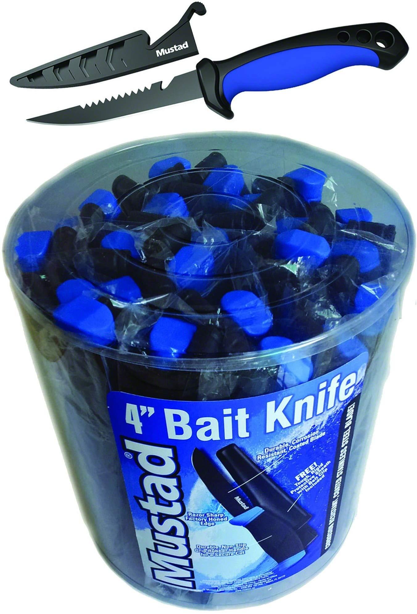 4'' Bait Knife with Sheath 24Pc Bucket