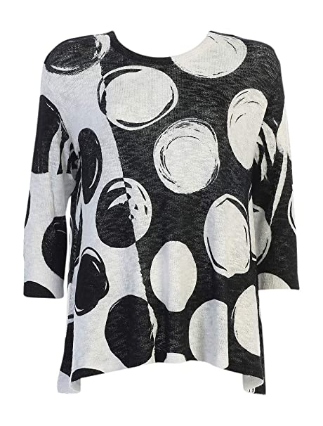 Jess /& Jane Womens Joyous Short Sleeve High Low Slinky Knit Tunic Top