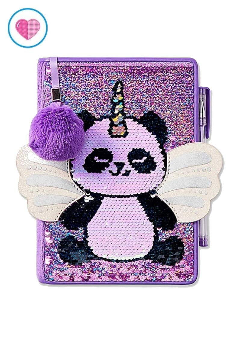 Justice for Girls Pandacorn Flip Sequin Journal Diary