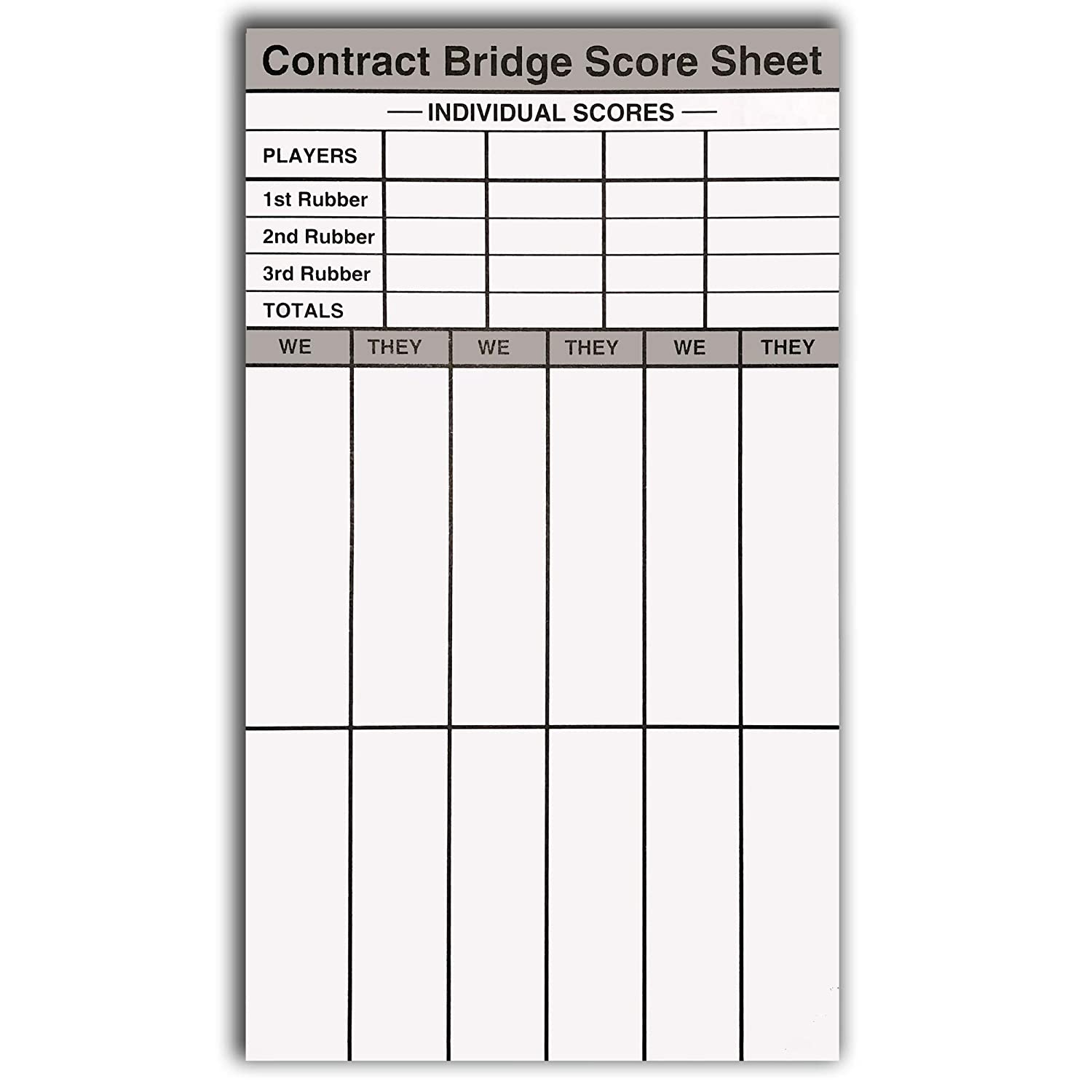 photograph regarding Printable Bridge Score Sheets identify Baron Barclay - Agreement Get together Rubber Bridge Ranking Pads - Preset of 6 - Double-Sided Internet pages - 360 General Scoring Sheets - Incorporates Ranking Chart