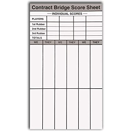 photograph relating to Free Printable Farkle Sheets identify Baron Barclay - Deal Bash Rubber Bridge Rating Pads - Established of 6 - Double-Sided Webpages - 360 All round Scoring Sheets - Contains Ranking Chart