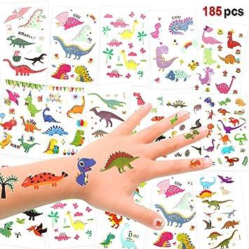 Amazon.com: Pegatinas de tatuaje temporales de dinosaurios ...