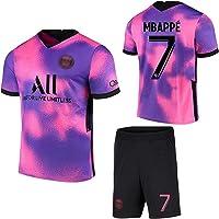 SHIR 2021 Paris Jersey Rosa Violeta Camiseta de fútbol # 10 Neymar # 7 Mbappé,Camiseta Pantalones Cortos Adulto/niños