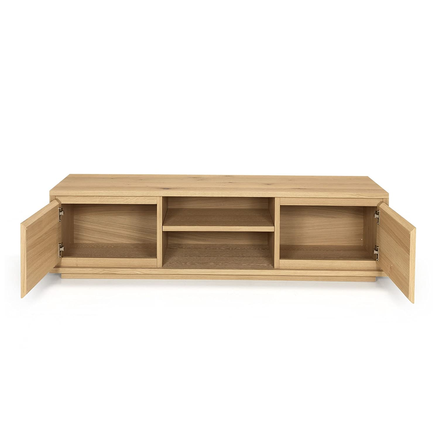 Stockholm Meuble Tv Design Scandinave Naturel Alinea 150 0x40  # Alinea Meuble Tv Bois