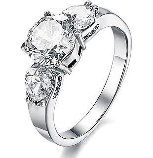 Amazoncom 4MM High Polish Ladies Eternity Titanium Ring Wedding