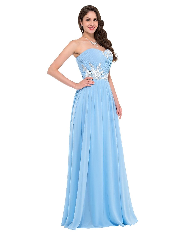 GRACE KARIN Damen Abendkleider Lange Herzform Chiffon Prom Dress in ...