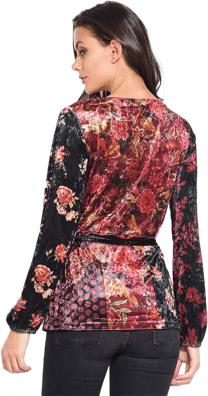 101 Idees Printed Long Sleeve Blouse Women