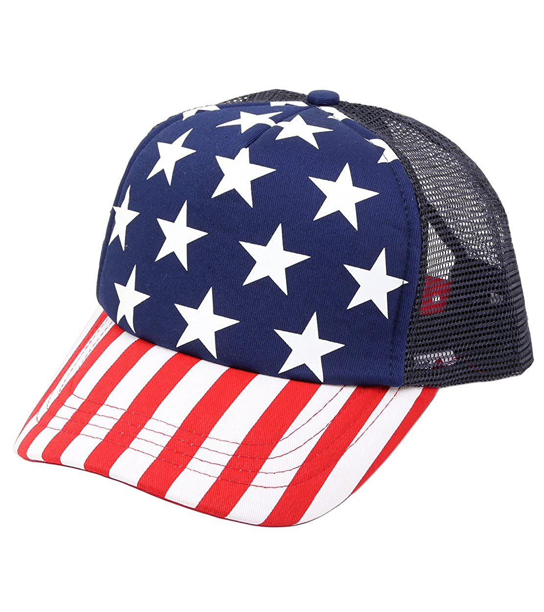 Funky Junque H-6918 USA Baseball Hat - Trucker Snapback at Amazon Women s  Clothing store  9ba109d442